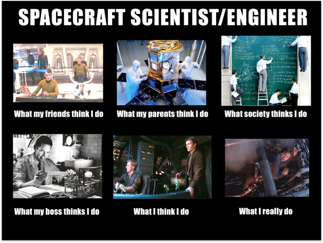 what people think spacecraft scientists engineers do